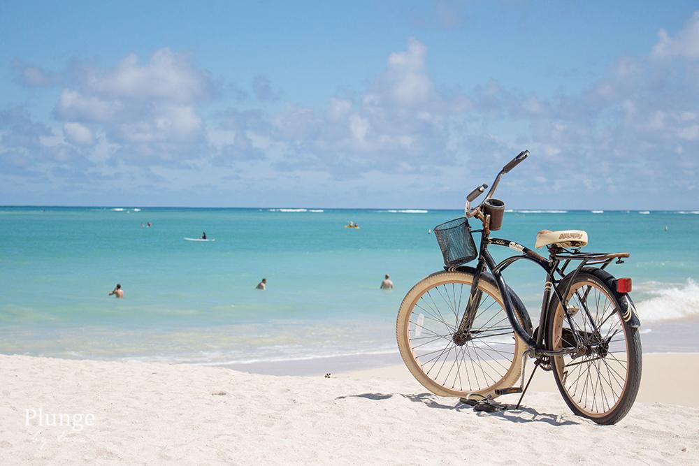 Bike on a Kailua Beach