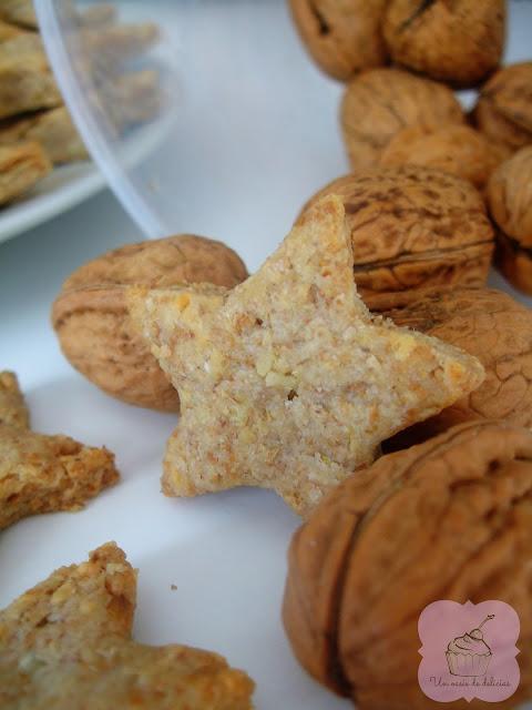 galletas de queso y nueces