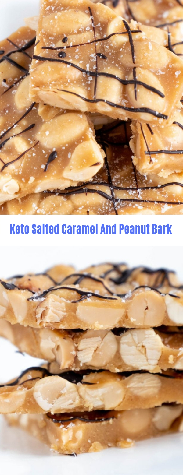 Keto Salted Caramel And Peanut Bark