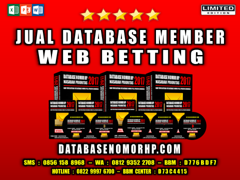 Jual Database Member Web Betting