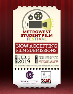 MetroWest Student Film Festival: submission deadline extended to Feb 1, 2019