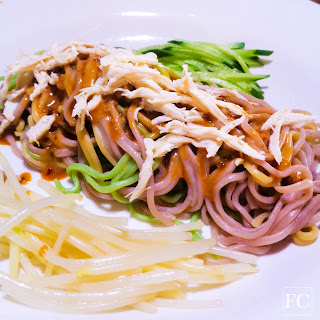 Tri-color Cold Noodles