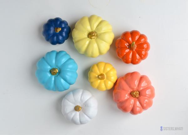 diy colorful mini pumpkins