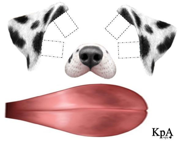 Snapchat Dog Ears And Tongue Template