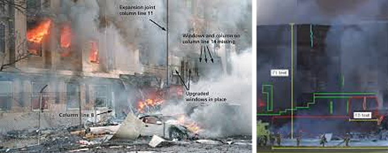 Destroços no Pentágono