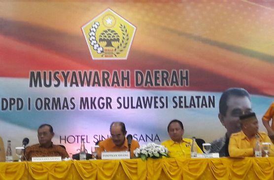 Taufan Pawe, Terpilih Pimpin MKGR Sulsel