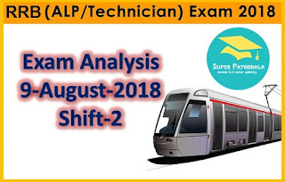 RRB ALP Exam Analysis: 9th August 2018 Shift 2
