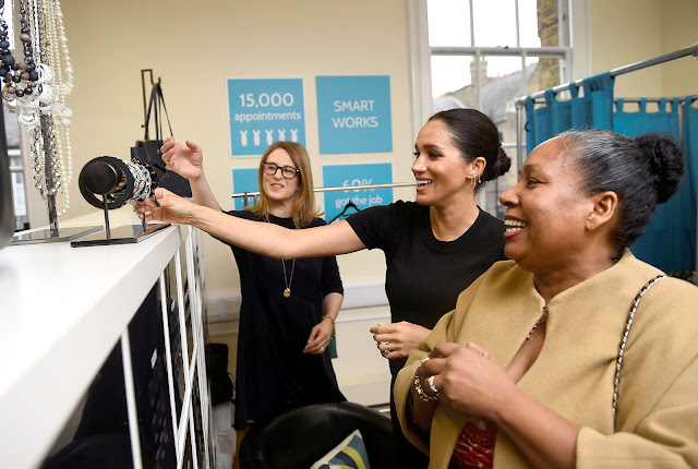 Wizyta księżnej Meghan w Smart Works Charity