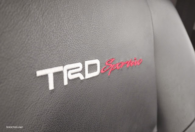 TRD Sportivo red stitching