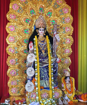 Saraswati Puja Decoration, Images, Photos, Pandels