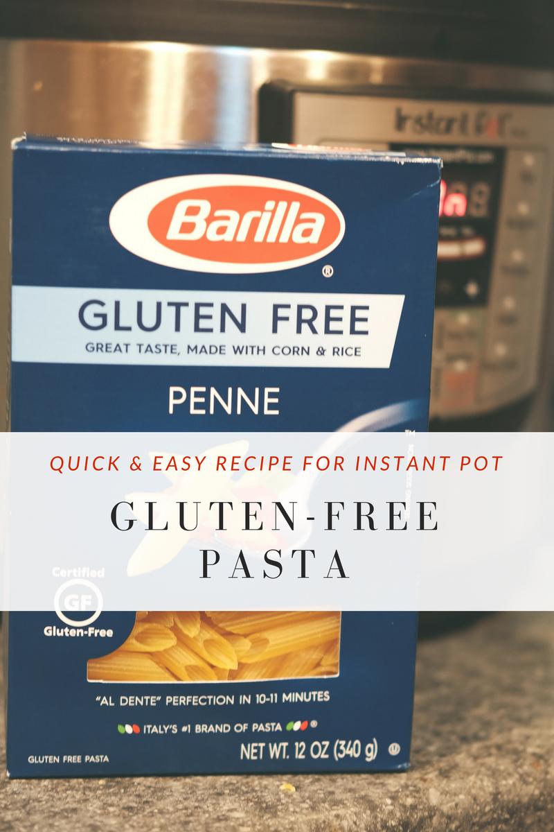 glutenfree instant pot pasta  janel berchielli