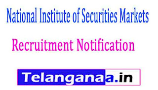 National Institute of Securities Markets NISM Recruitment Notification 2017