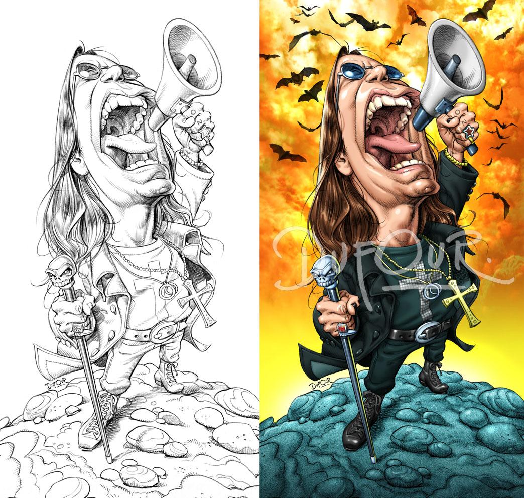 Ozzy Osbourne por Santiago Dufour