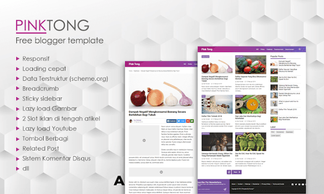 Pinktong Blogger Template Full Speed