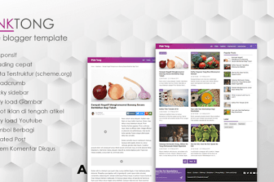 PinkTong Blogger Template: Full Speed & Simple