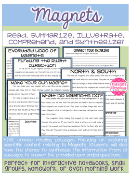 https://www.teacherspayteachers.com/Product/Magnets-Science-Articles-w-Comprehension-Paired-Text-Questions-2413773