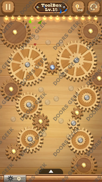 Fix it: Gear Puzzle [ToolBox] Level 15 Solution, Cheats, Walkthrough for Android, iPhone, iPad and iPod