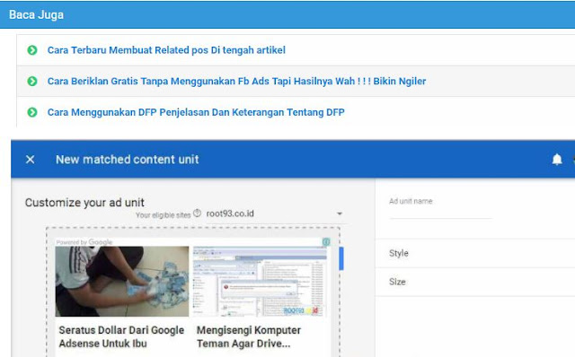 Cara Membuat Iklan Powered by Google Adsense di Blog Gratis