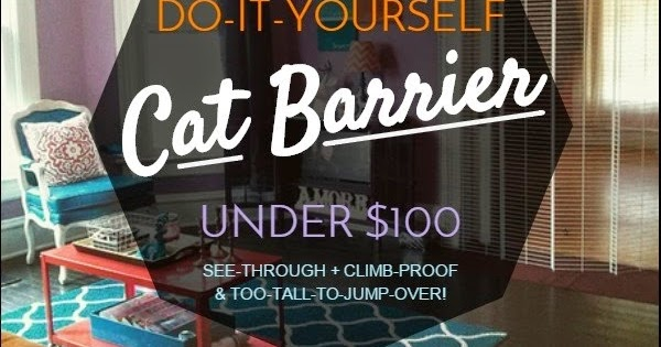 Home Decor Ideas Living Room Apartment Black Leather Sofa The Lovely Side: Diy Cat Barrier For Under $100 (see ...