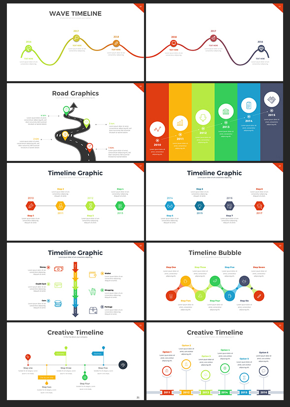 project timeline keynote template by rrgraph graphicriver