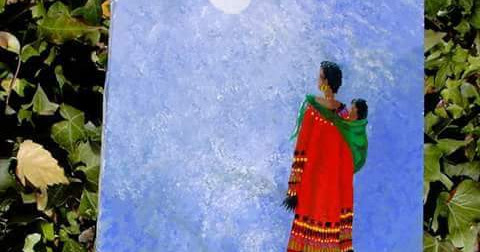 Quilted Watercolors: Women and the Moon