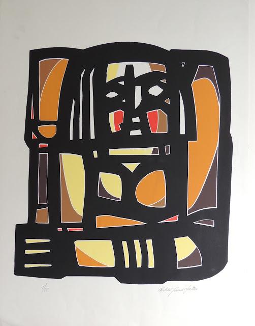 Antonio Patiño arte serigrafía figura abstracta