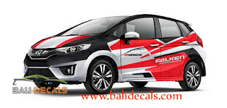 cutting sticker honda jazz bali