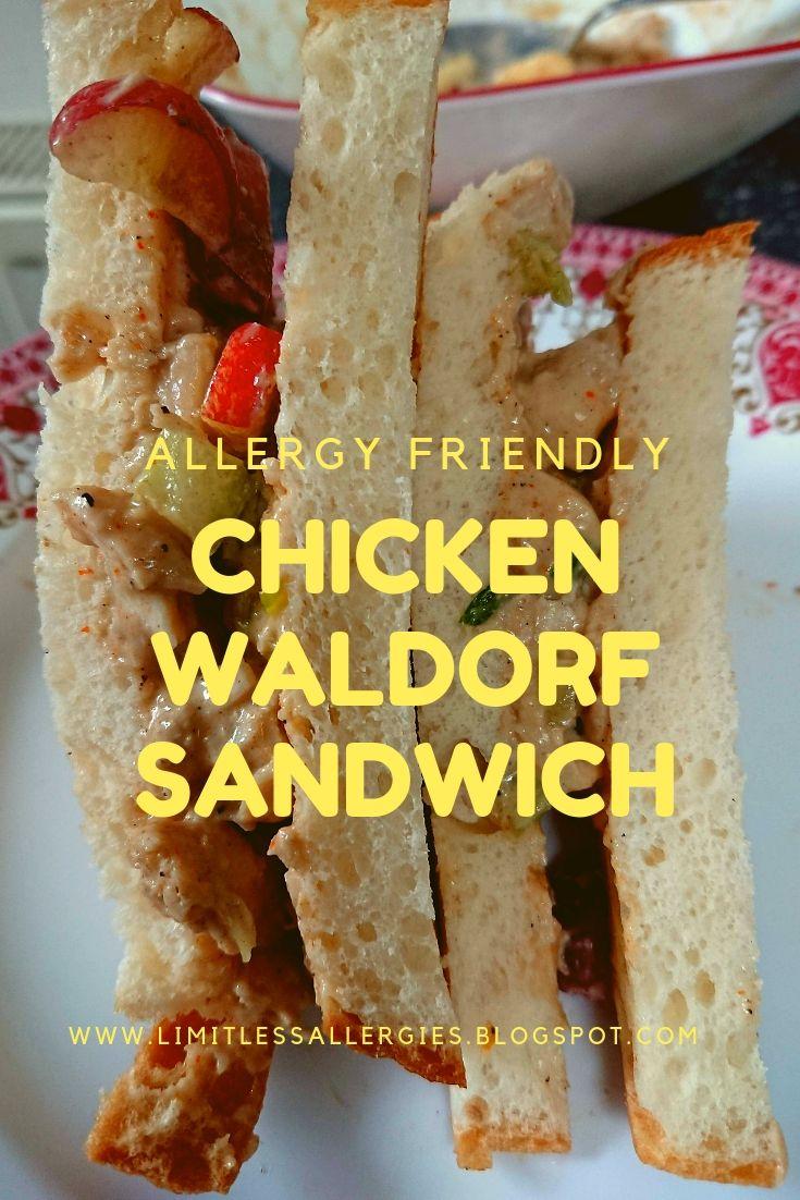 Pin for Allergy Friendly Chicken Waldorf Sandwich