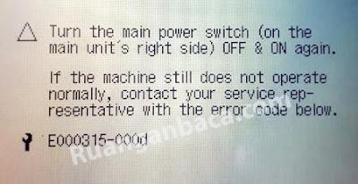 4 Langkah Hilangkan Problem E000315-000d mesin fotocopy canon IR