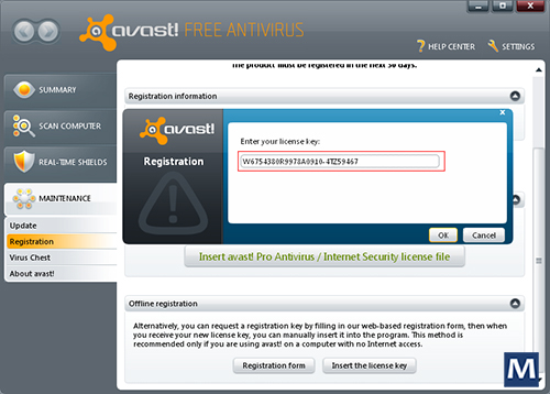 avast pro free activation code