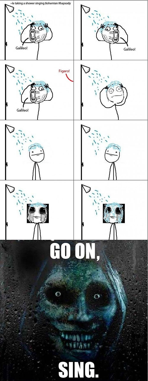 why i dont sing in the shower