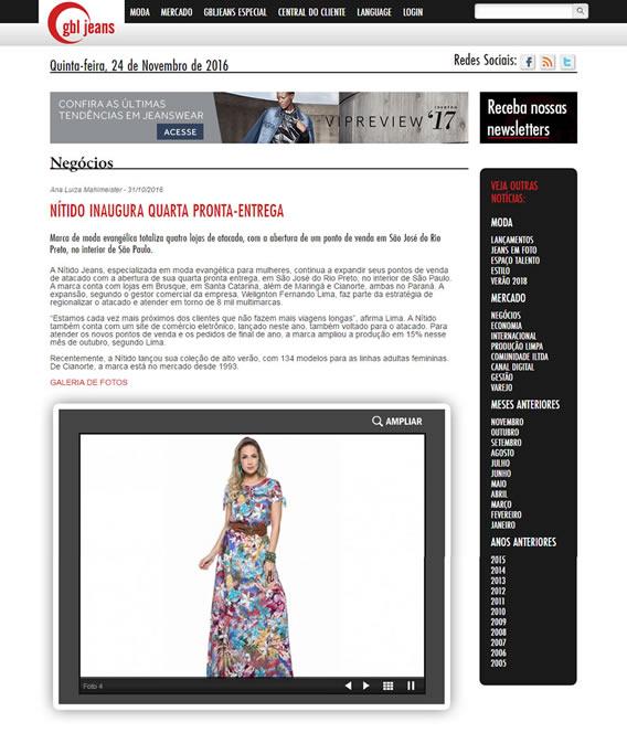 Nítido é matéria no portal GBL Jeans