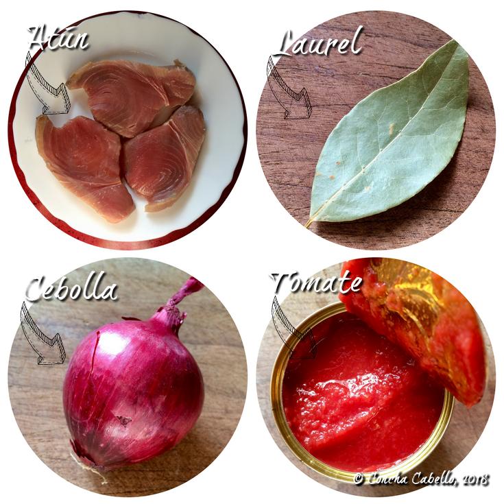 atún-laurel-cebolla-tomate