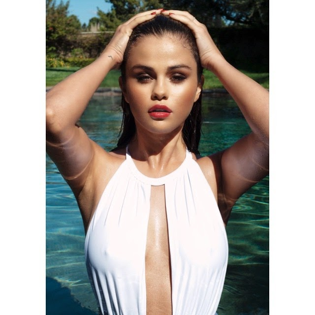 Selena Gomez sizzles for sexy swimsuit photoshoot and bares cleavage