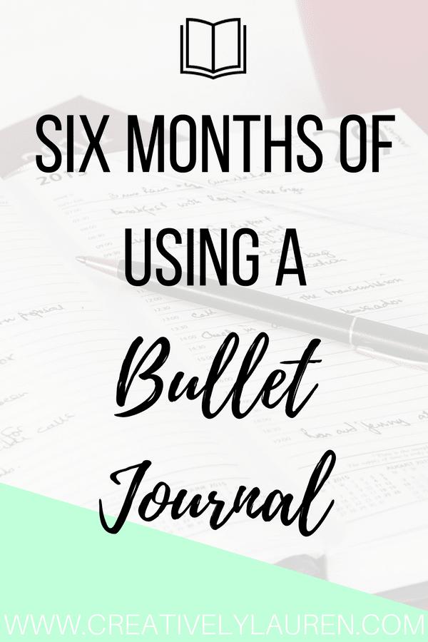 Six Months of Using a Bullet Journal