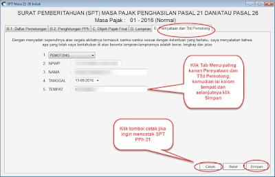 Cara Membuat Laporan pajak Bulanan SPT PPh 21 Dengan e-SPT PPh 21