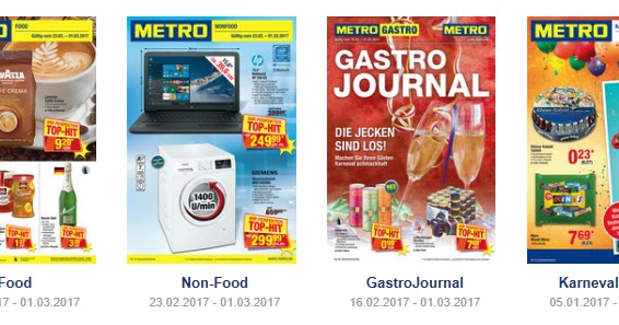 Metro Prospekte Kataloge Ab 2017 Angebote