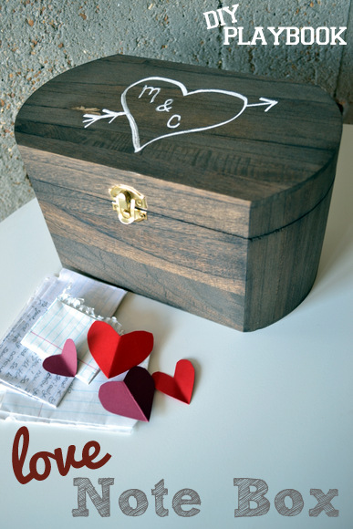 This DIY love note box is the perfect place to store the treasures gathered during a relationships