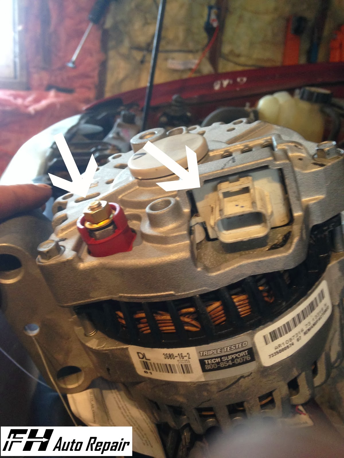 Fh Auto Repair How To Replace The Alternator On A 2001 2004 Ford 1972 Ford  Bronco 2002 Ford Escape Alternator Wiring ...