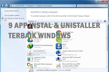 9 Aplikasi Instal & Uninstaller Windows Terbaik