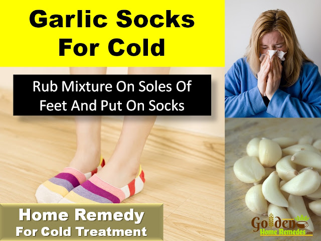 Garlic-Socks, garlic-for-cold, Home Remedies For Cold, Cold Home Remedies, Cold Remedies, Remedies For Cold, Cold Treatment, Treatment For Cold, How To Get Rid Of Cold, How To Get Rid Of Cold Fast, How To Treat Cold, How To Cure Cold, Herbal Remedies For Cold,