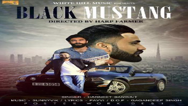 Punjabi Song: Black Mustang Lyrics - Harneet Banwait