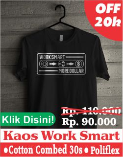 kaos work smart more dollar
