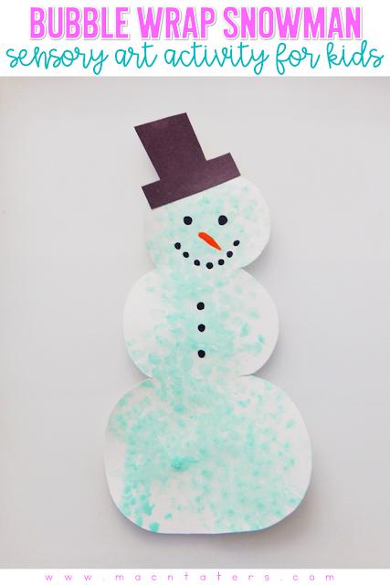 Bubble Wrap Snowman