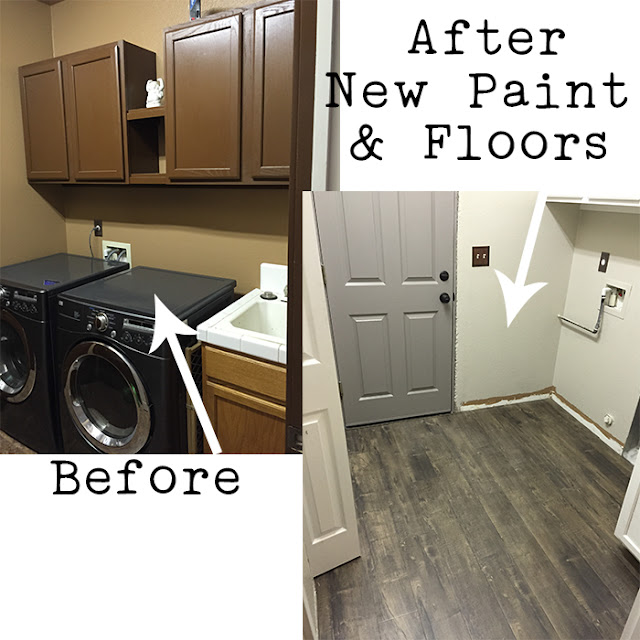 Farmhouse Glam Laundry Room Makeover | One Room Challenge