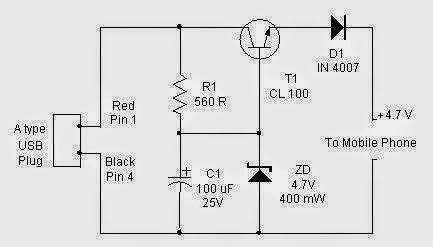 USB-CELLPHONE Charger Circuit. ~ NEW TECH