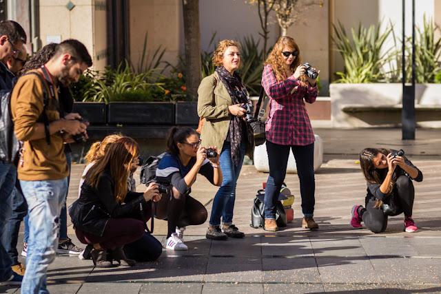 Alumnos del 4º curso de Iniciación a la Fotografía