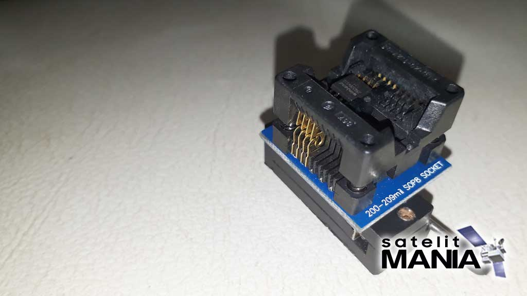 Modifikasi Socket SOP IC Eeprom di Receiver Skyabox A1
