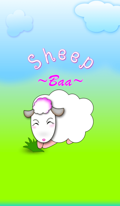 Cute sheep - bleating