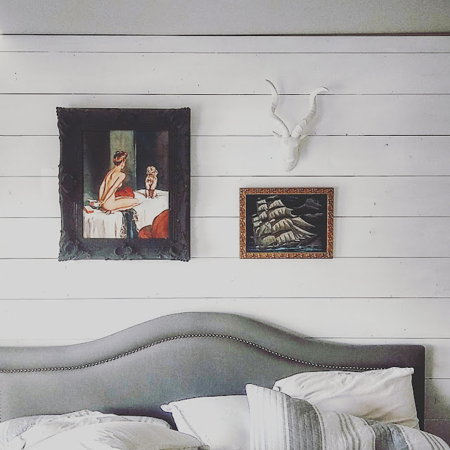 white shiplap wall for a Vancouver home